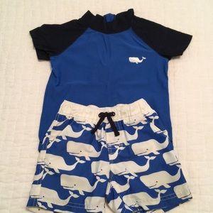 12-18mo baby Gap whale bathing suit set